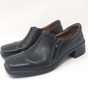 Josef Seibel Brown Leather Comfort Shoes Loafers